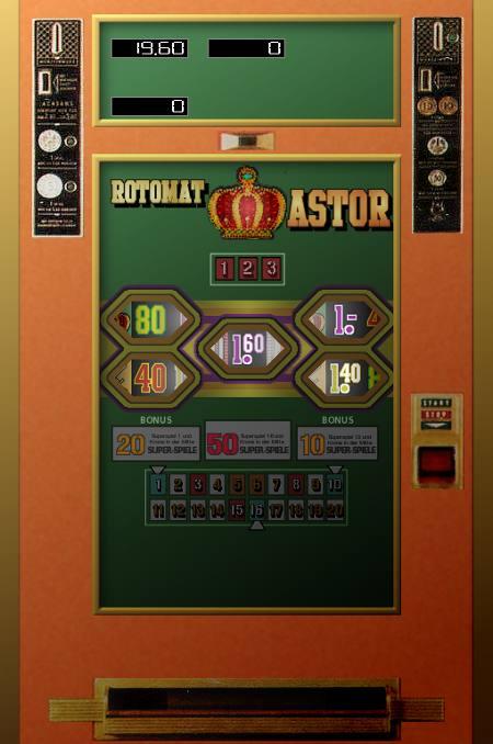 Screenshot der unfertigen Version des Rotomat Astor