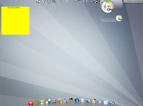 Screenshot: Der Desktop des Ututo-Live-Systems
