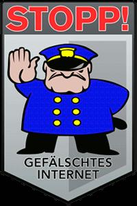 STOPP! GEFÄLSCHTES INTERNET!
