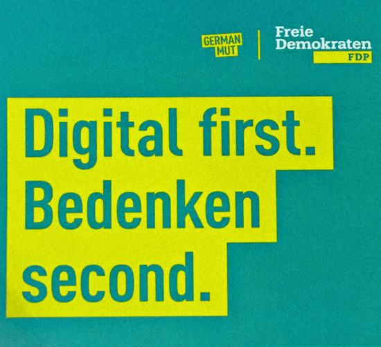GERMAN MUT! | Freie Demokraten FDP | Digital first. Bedenken second.
